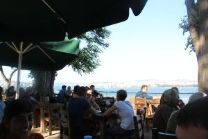 Tea Garden and the view of the Bosphorus