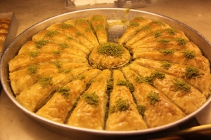 The large triangular slice of Baklava