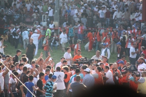 The stadium erupting in fanfare, especially those from Anatolia as the champion is Anatolian