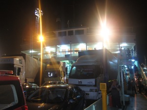 Our bus crossing the Marmaris sea via ferry