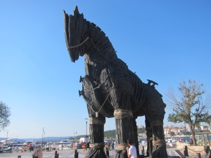 The Trojan Horse used in the 2004 Film