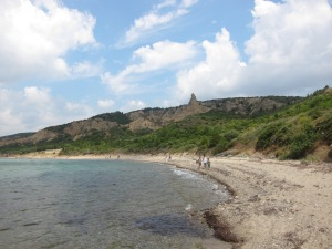 Part of ANZAC Cove where they landed