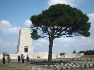 Lone Pine, the Australian memorial, the original pine seed was brought back to be planted at this memorial.
