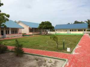 the Local school with a walkway constructed by Six Senses