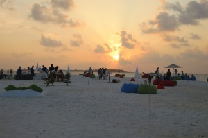 NYE Sandbank sunset cocktails