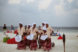 Maldivian fisherman's dance, to bid good luck and a good catch.