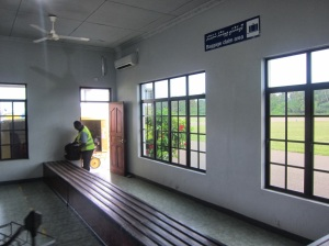 baggage claim at Kadhoo Airport