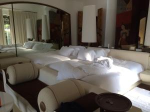 Each villa's 4m long bed.