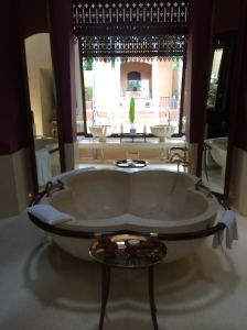 Reserve Villa indoor bathtub.