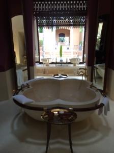 Reserve Villa indoor bathtub.