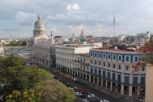 View of Havana and the Capitol from the rooftop pool of Hotel Parque Central.