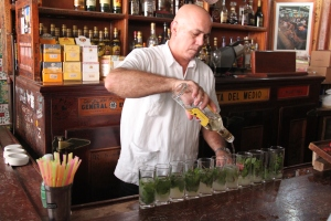 Another frequented place by Ernest Hemingway, El Bodeguita Del Medio , the birthplace of the Mojito