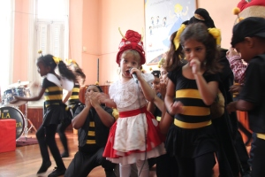 Children perform a folk tale