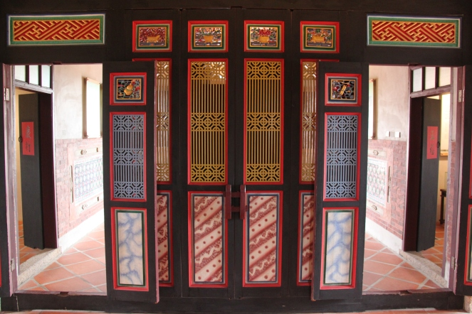 Beautiful door in a colonial style house