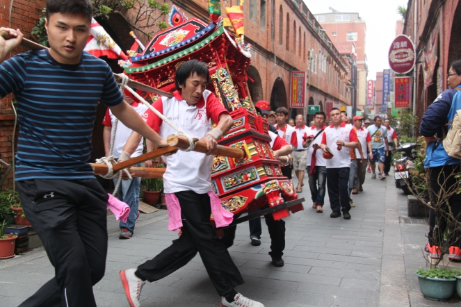 A religious parade/ festival we stumbled upon